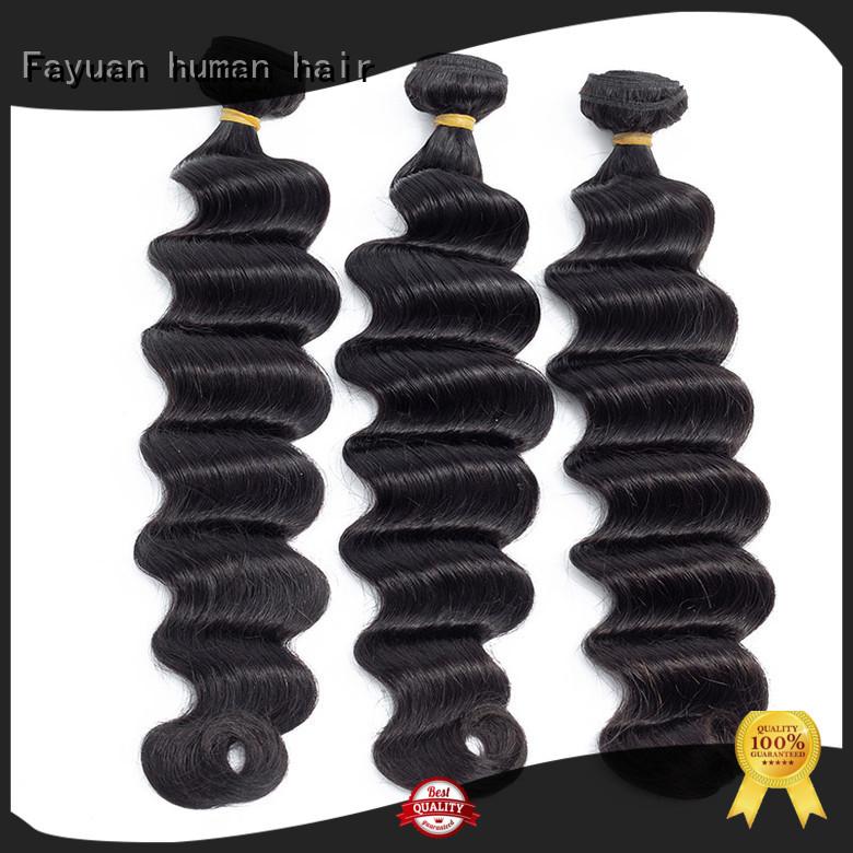 Fayuan virgin deep wavy hair weave for women