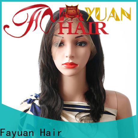 Fayuan Hair grade glueless lace front wigs manufacturers for men