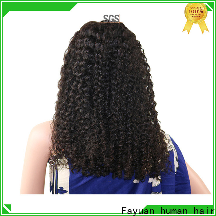 Fayuan Hair Latest affordable human lace front wigs Supply for barbershop