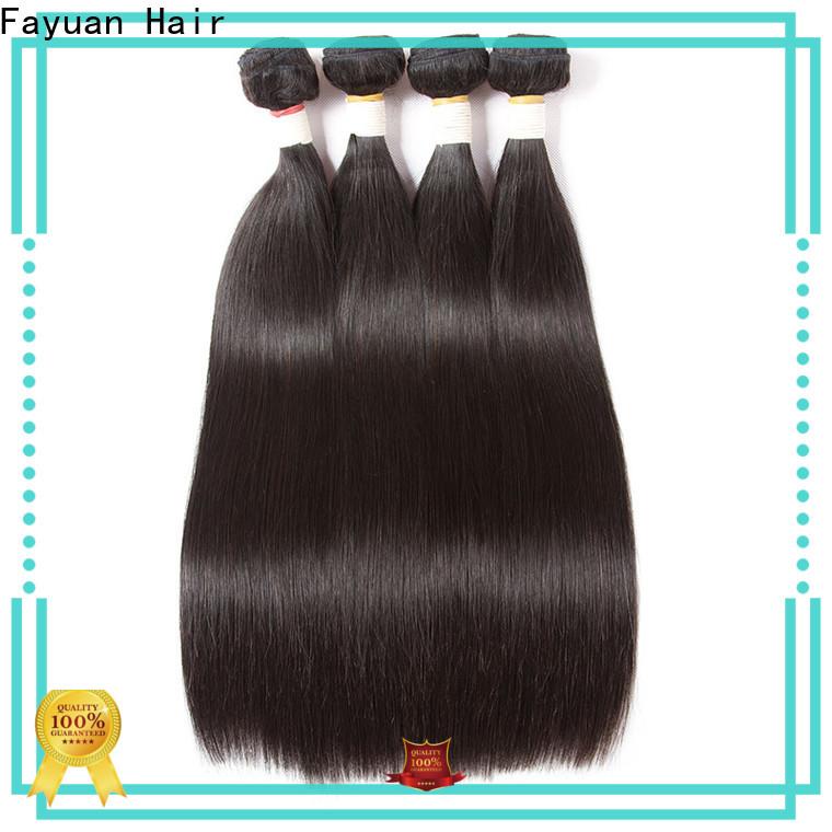 Fayuan Hair High-quality brazilian hair extensions bundles factory for street