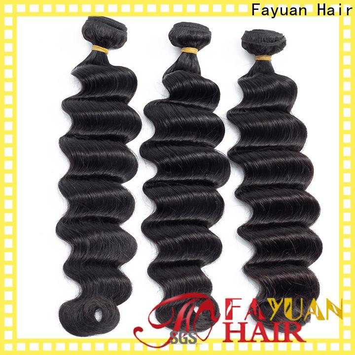 Fayuan Hair grade indi remi hair for business for barbershop
