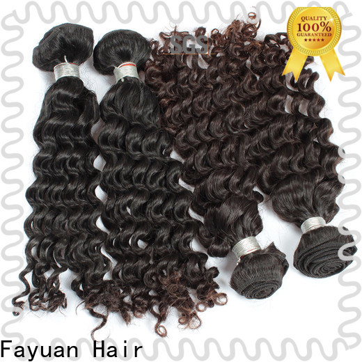 Fayuan Hair deep malaysian curly weave bundles Suppliers for men
