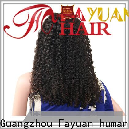 Fayuan Hair grade long black lace front wig Supply for barbershop