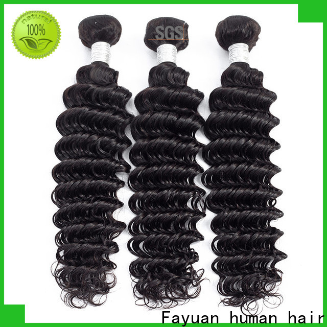 Fayuan Hair curly peruvian wavy hair bundles company for street
