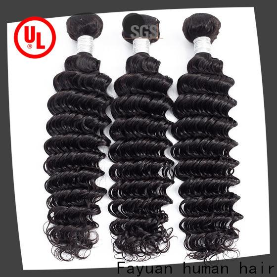 Fayuan Hair bundles black hair extensions Supply for men