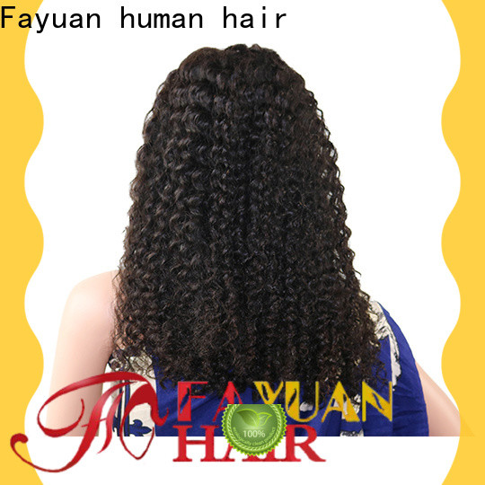 Fayuan Hair lace long black lace front wig for business for men
