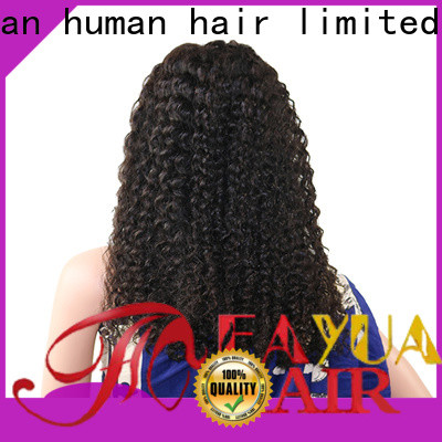 Fayuan Hair grade black lace front wigs sale for business for barbershop