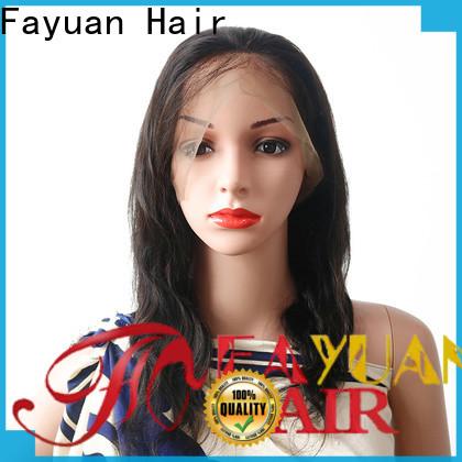 Fayuan Hair virgin full lace human hair wigs Suppliers for barbershop