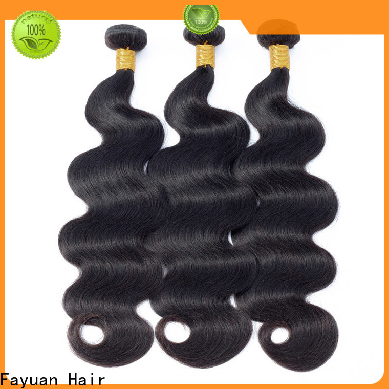 Fayuan Hair virgin black hair extensions Supply for selling