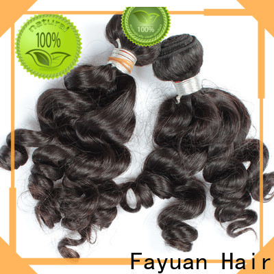 Fayuan Hair Best indian human hair factory Supply for street
