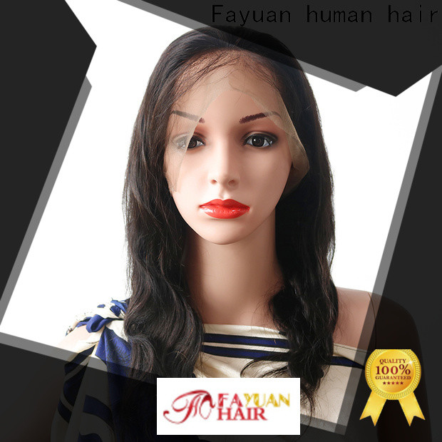 Fayuan Hair cuticle best human hair lace wigs manufacturers for men