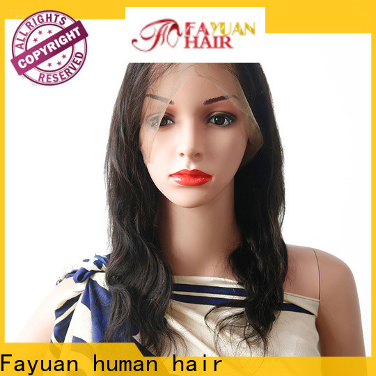 Top glueless lace front wigs unprocessed Suppliers for selling