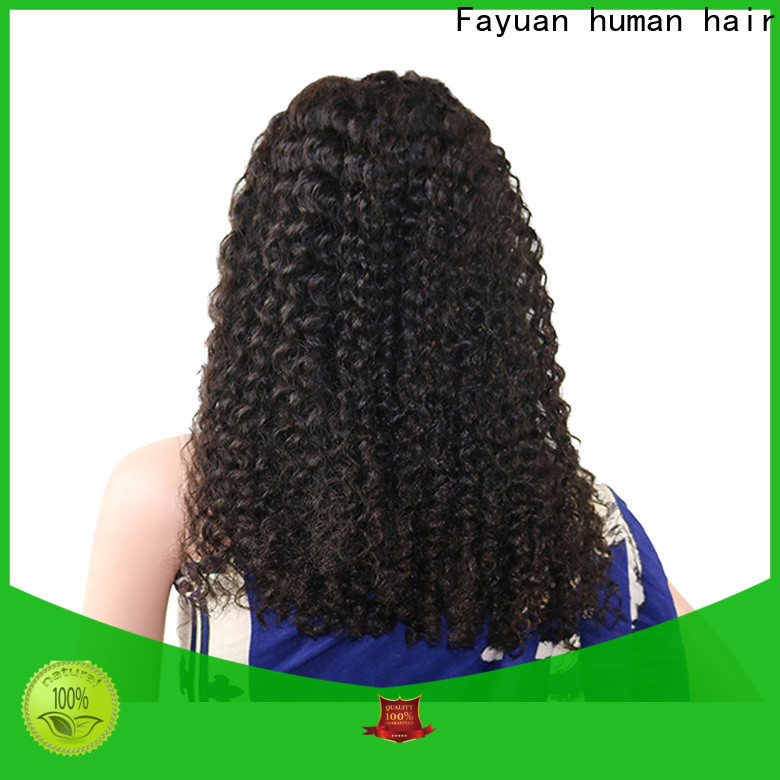 Fayuan Hair frontal black hair lace front wigs Supply for women