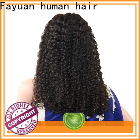 Fayuan Hair curly black hair lace front wigs Suppliers for men