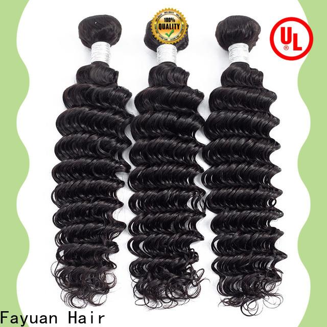 Fayuan Hair curly peruvian hair weave Suppliers for women