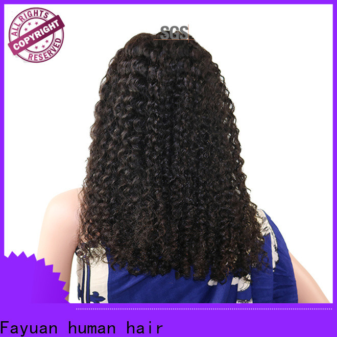 Fayuan Hair Latest cheap lace front wigs Supply for men