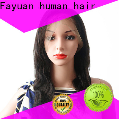 Fayuan Hair grade full lace human hair wigs Suppliers for barbershop