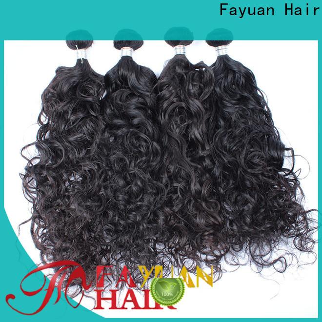 Fayuan Hair deep malaysian natural wave weave Suppliers for street