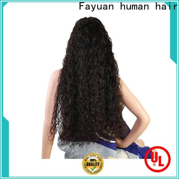 Fayuan Hair virgin custom wig prices factory for street