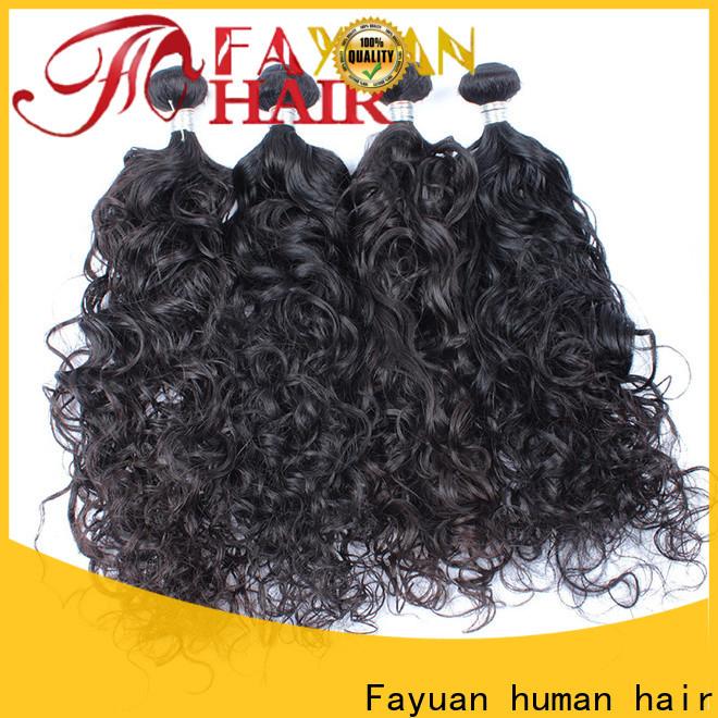 Fayuan Hair grade malaysian wavy hair bundles for business for barbershopp