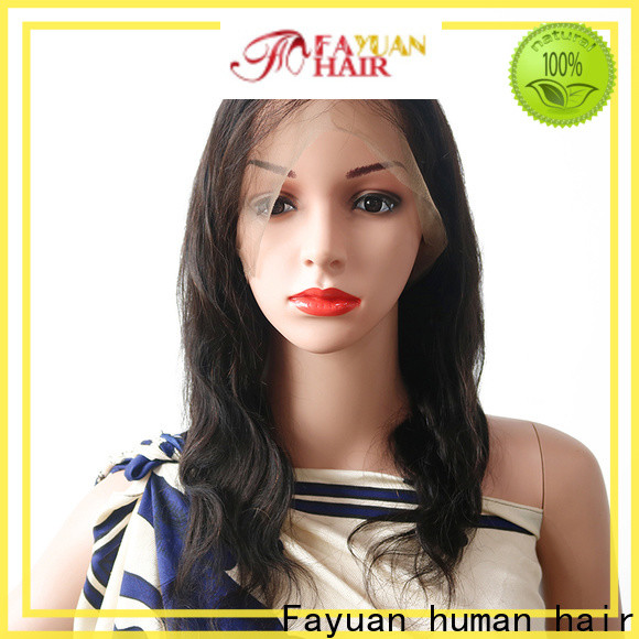 Latest lace wig with bangs brazilian manufacturers for barbershop