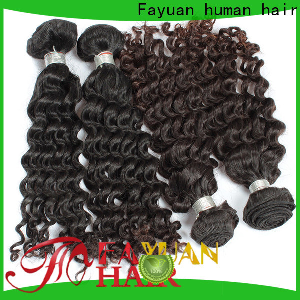 Fayuan Hair grade malaysian curly hair with closure for business for selling