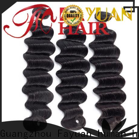 Fayuan Hair Custom indian human hair weave Suppliers for women