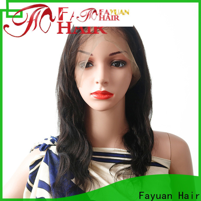 Fayuan Hair Latest cheap human full lace wigs manufacturers for men