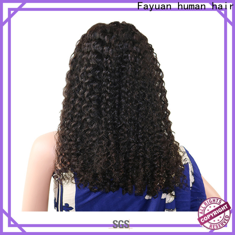 Fayuan Hair curly best lace front wigs online company for selling