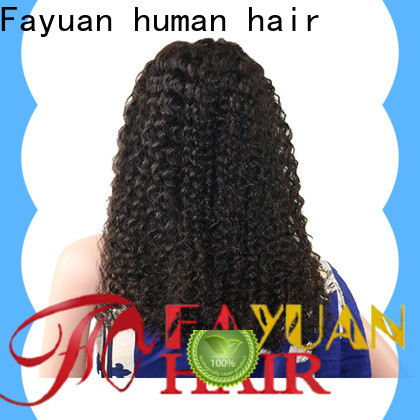 Fayuan Hair Top long black lace front wig factory for barbershop