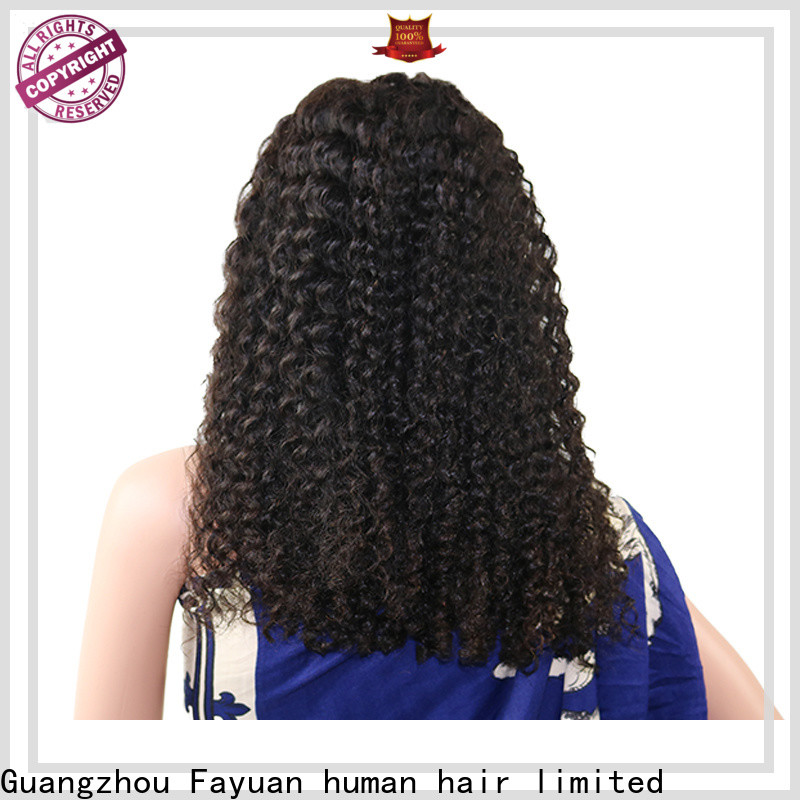 Fayuan Hair curly lace frontal wig company for barbershop