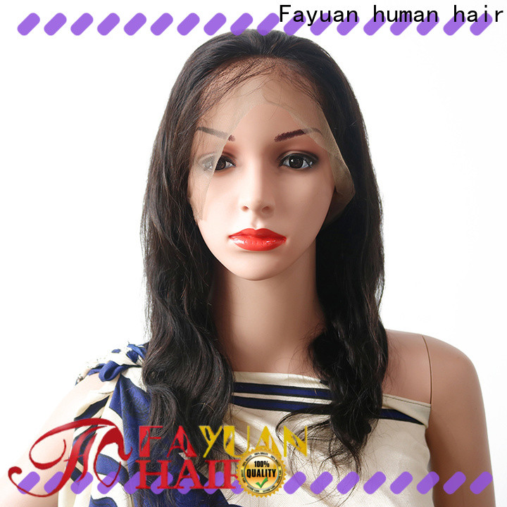 Fayuan Hair unprocessed lace wig prices manufacturers for street