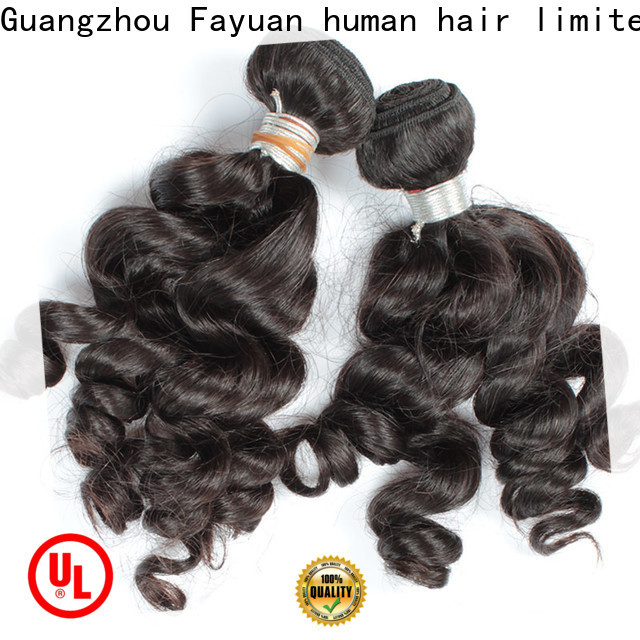 Fayuan Hair grade indian curly hair weave for business for barbershop