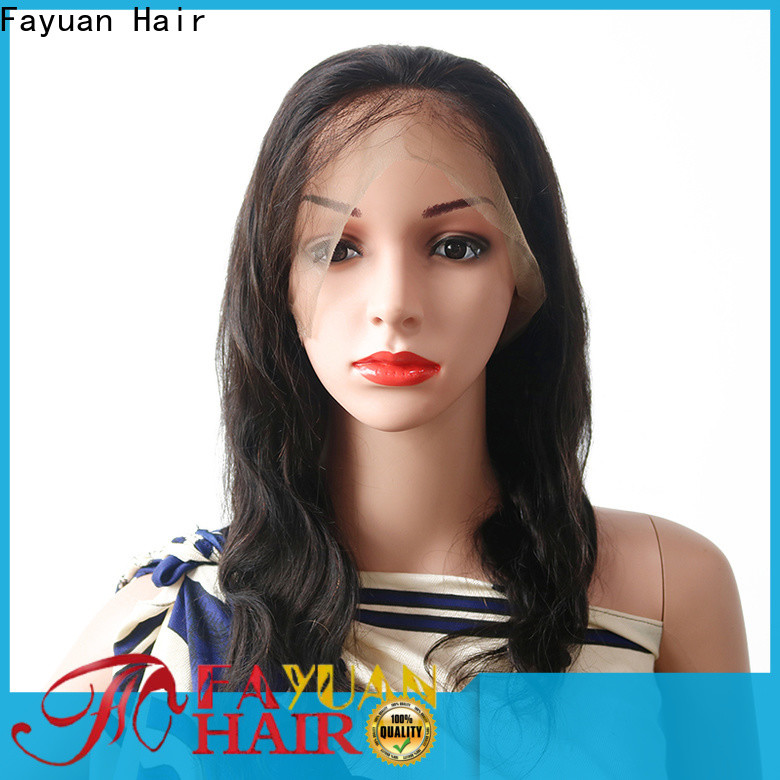 Fayuan Hair grade glueless lace front wigs company for men