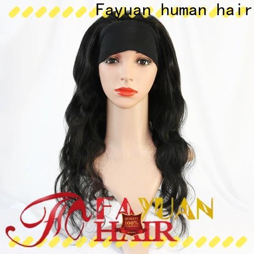 Fayuan Hair professional black hair wigs manufacturers for men