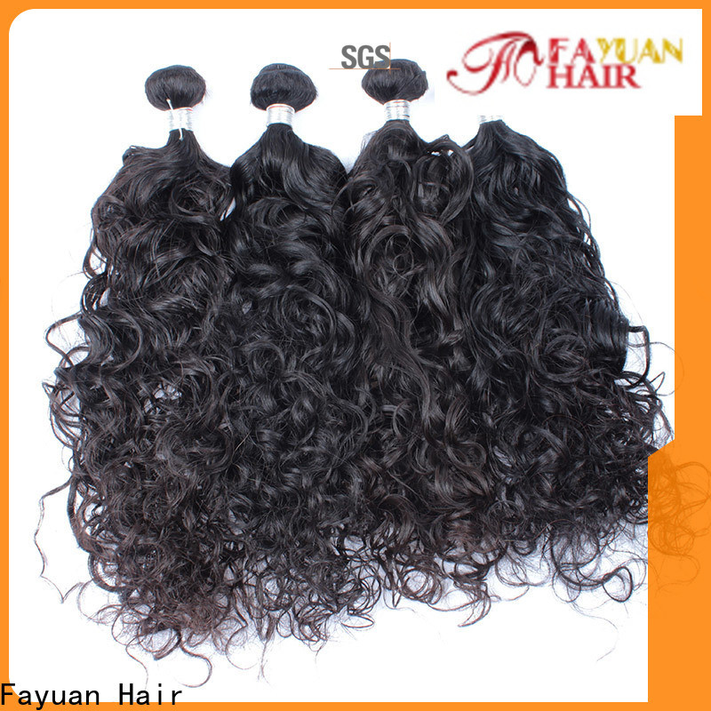 Fayuan Hair loose malaysian human hair bundles Suppliers for barbershopp