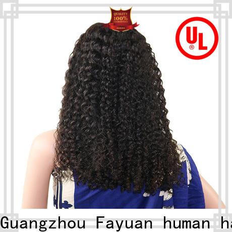 Fayuan Hair grade swiss lace front wigs factory for black women