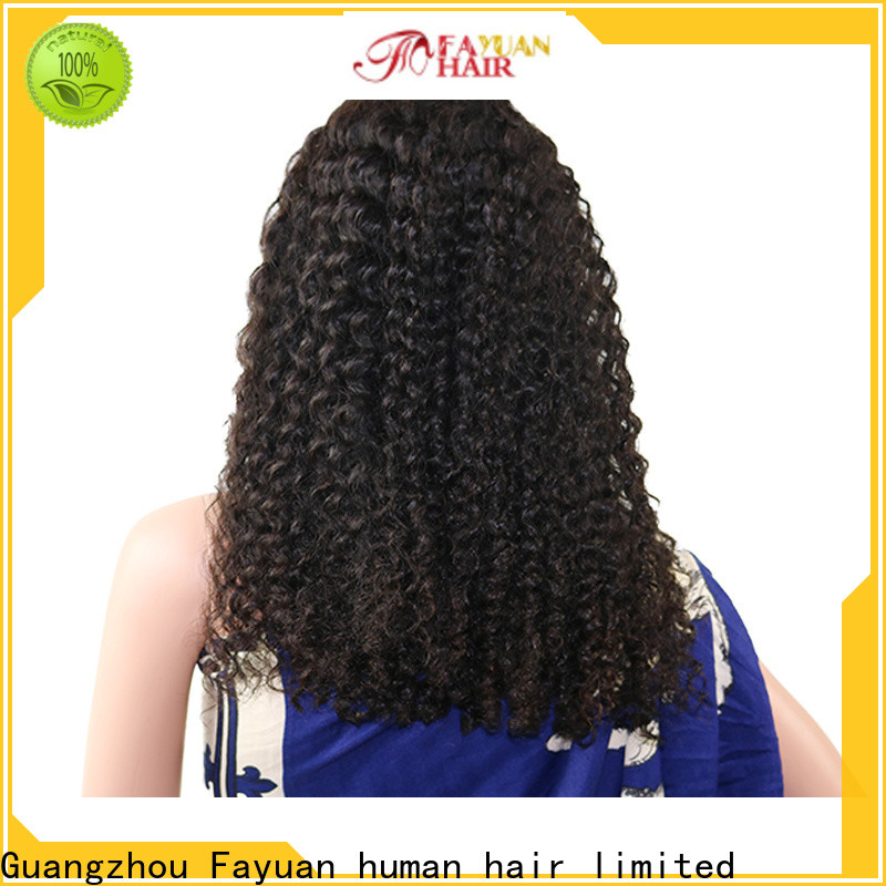Fayuan Hair curly human hair lace wigs for business for women