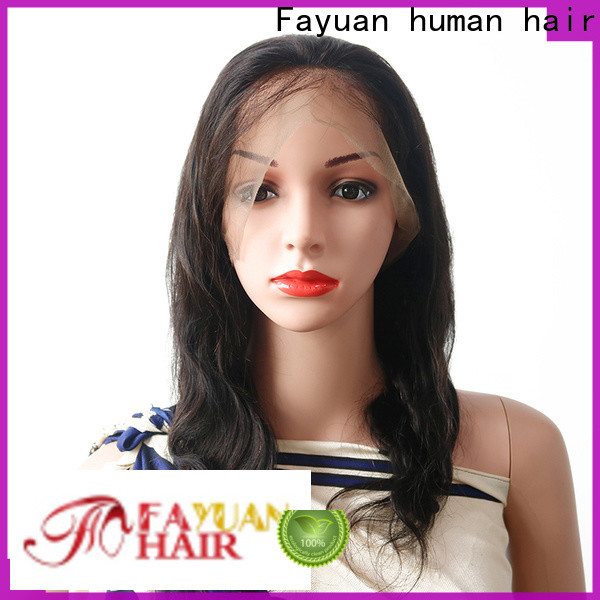 Fayuan Hair grade curly full lace wigs human hair manufacturers for street