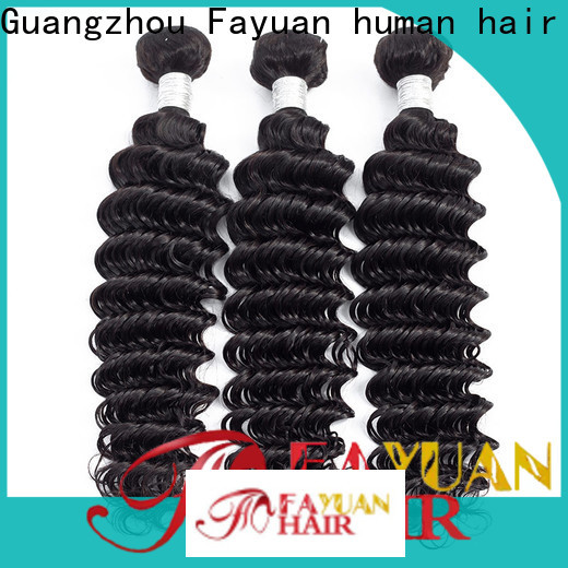 Fayuan Hair curly peruvian hair extensions wholesalers company for men