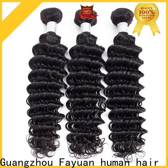 Fayuan Hair wave peruvian curly bundles company for barbershop