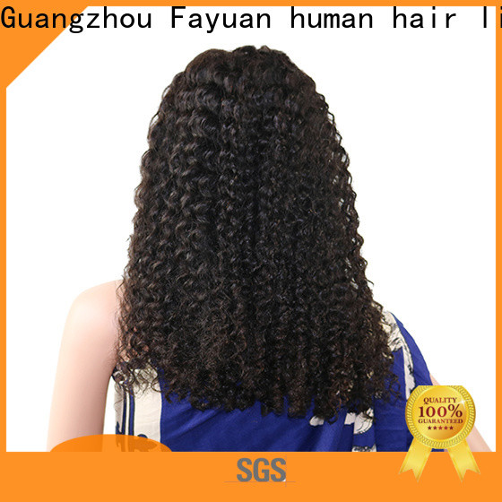 Fayuan Hair curly long black lace front wig manufacturers for street
