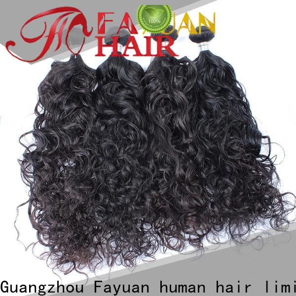 Fayuan Hair deep malaysian curly hair bundle deals manufacturers for street