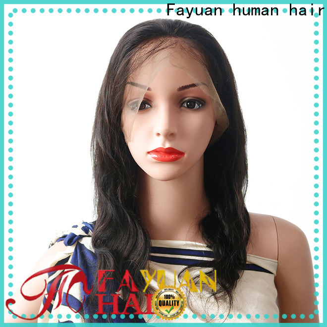 Fayuan Hair black full lace human hair wigs for business for barbershop