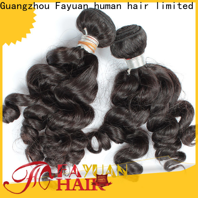 Fayuan Hair loose real indian hair weave for business for barbershop