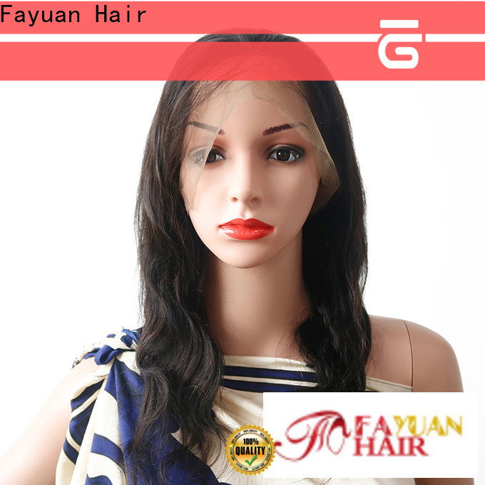 Custom lace wig with bangs unprocessed Supply for street