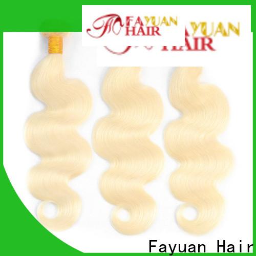 Fayuan Hair Custom brazilian human hair extensions Suppliers for barbershop