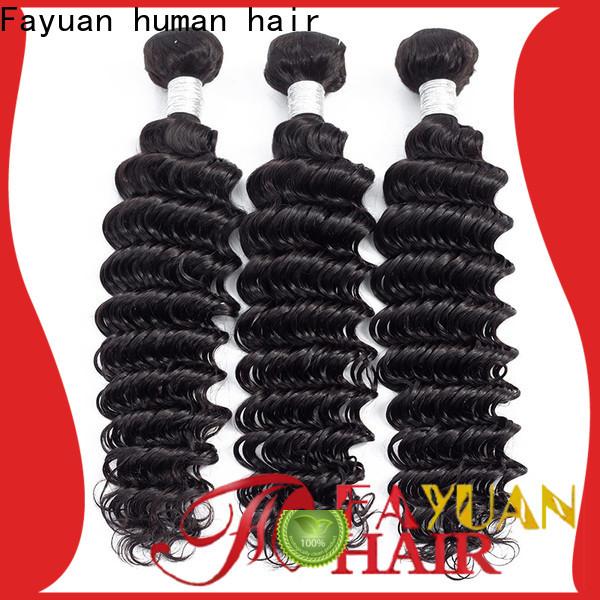 Fayuan Hair Wholesale peruvian loose wave hair bundles manufacturers for street