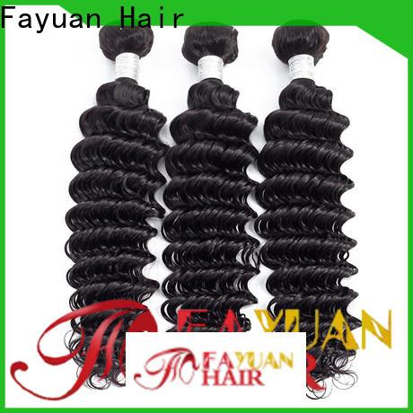 Fayuan Hair Top peruvian wavy hair bundles Supply