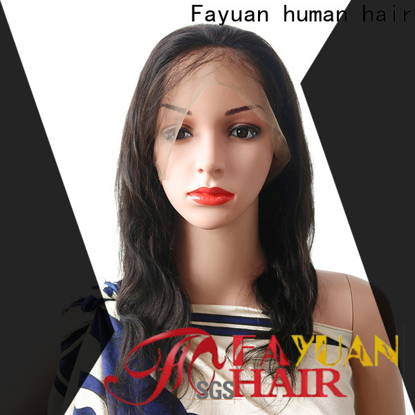 High-quality lace wig with bangs Supply